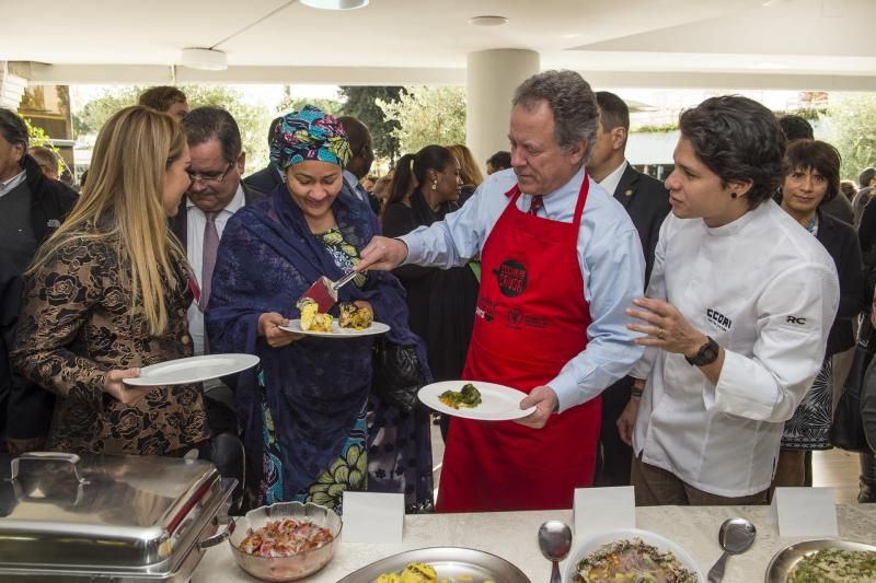 WFP Chief Exec and Chef Palmiro