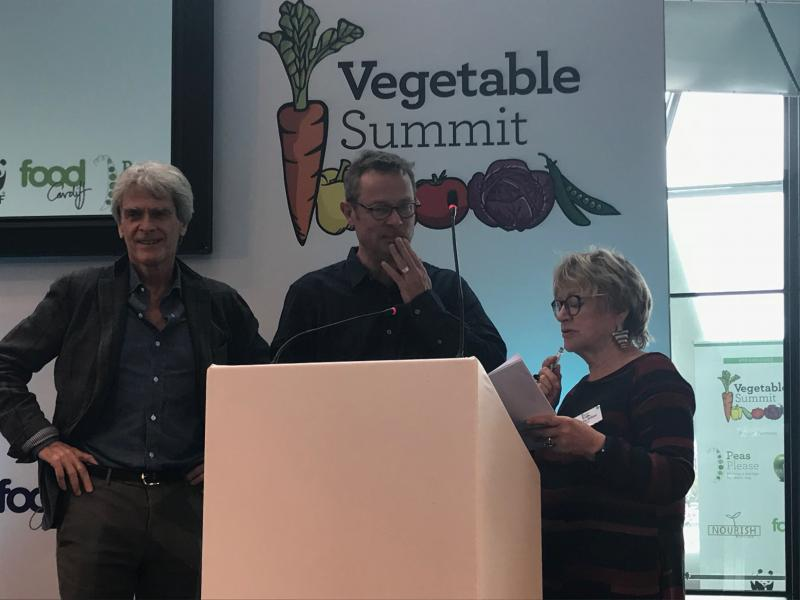 Speakers at the veg summit